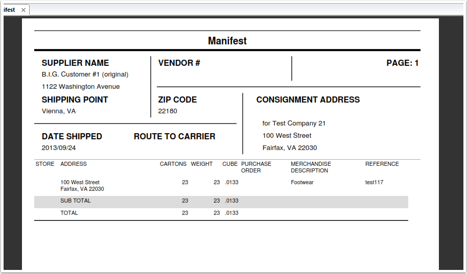 pictures of shipping manifest template